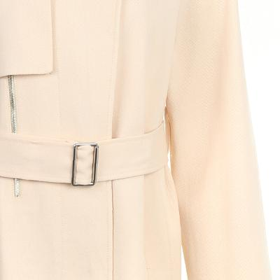 zipper detail trench coat yellow